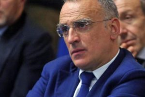 Il questore di Milano Marcello Cardona in occasione della presentazione della candidatura di Milano ad ospitare la riunione annuale Cio del 2019, 15 marzo 2017. ANSA / MATTEO BAZZI
