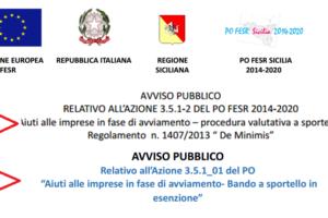 PRIMI BANDI DEL PO FESR 2014 -2020