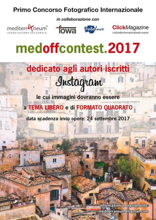 Prorogati termini di iscrizione – Primo Concorso Fotografico Internazionale MEDOFFCONTEST.2017,  dedicato agli autori iscritti a Instagram