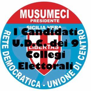 I Candidati U.D.C. dei 9 Collegi Elettorali