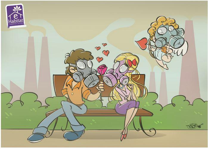 Maschere antismog: Emiliano Bruzzone (eHabitat), …love in the air, febbraio 2016
