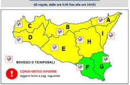 Allerta Meteo con Codice Giallo  Domani 21.03.2018 a Catania, il Comune raccomanda Prudenza