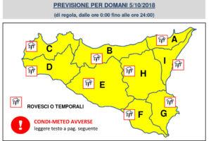 5 ottobre, lezioni sospese nelle scuole di Catania – Condizioni Meteo Avverse 05.10.2018